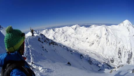 Bansko backcountry skiing and splitboarding
