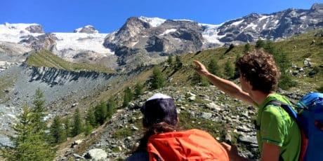 Climbing Castore Peak