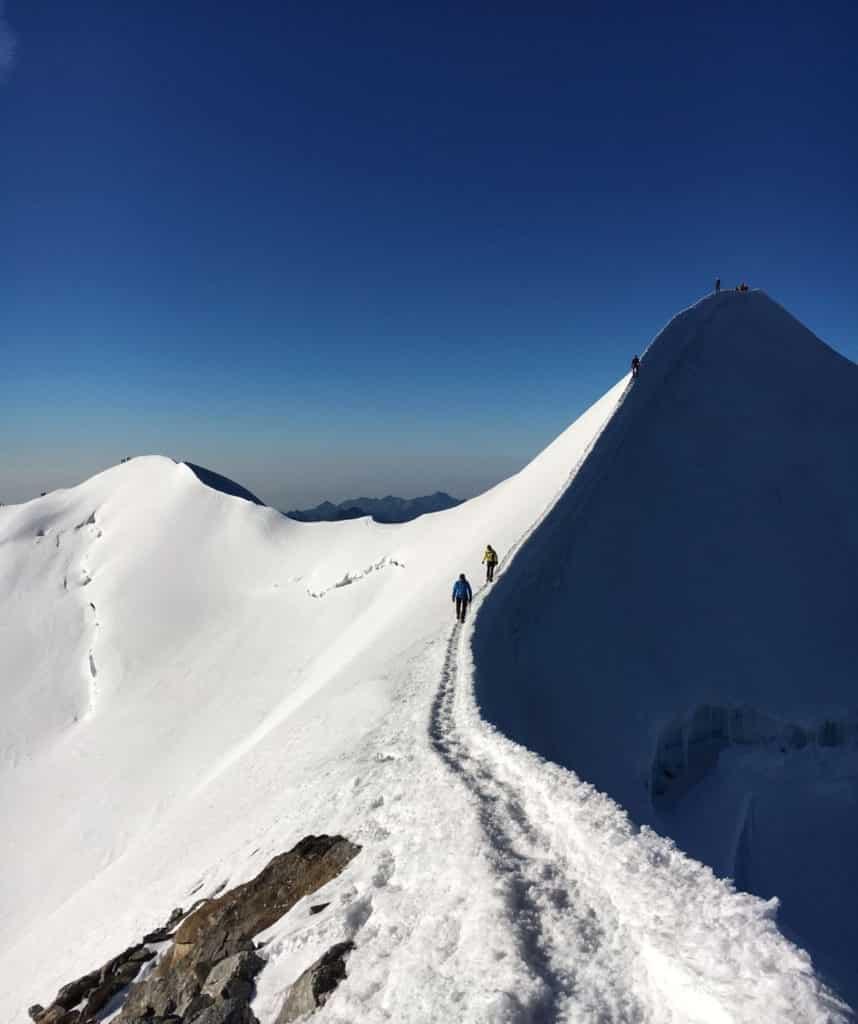 Punta Castore summit ridge