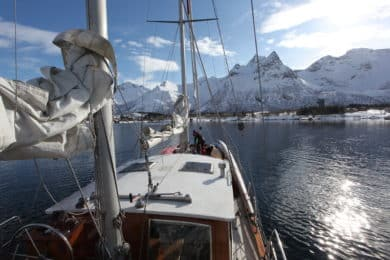 Ski touring and sailing in Norway