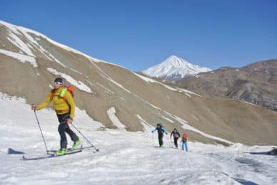Mt Damavand guided ski touring ascent