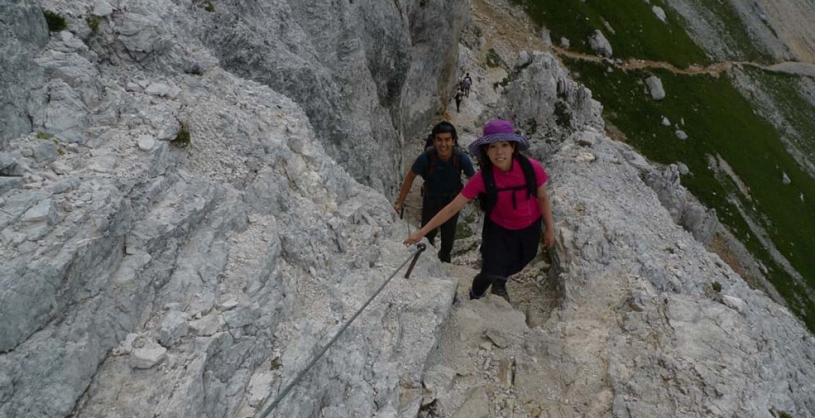 Mojstrana half-day guided via ferrata