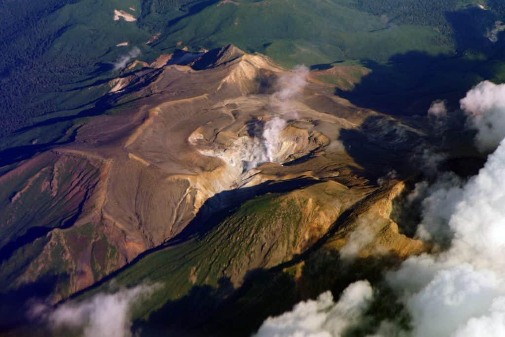 Mount Meakan crater