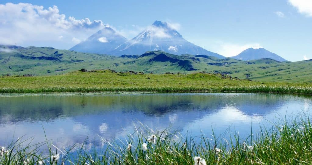 summer trekking in Kamchatka