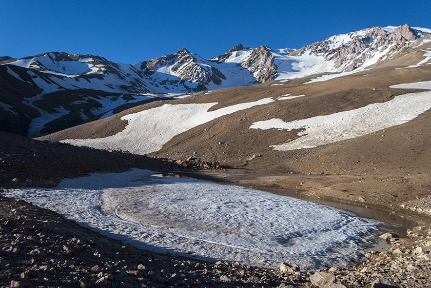 Domuyo Base Camp at 3000 meters
