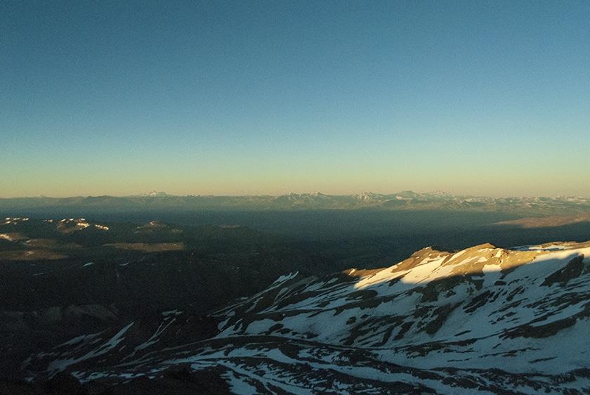 Sunrise over Cordillera del Viento