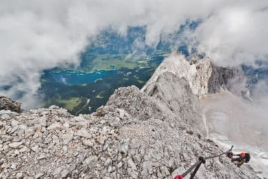 Zugspitze via Hollental guided via ferrata ascent