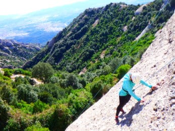 Sport climbing day in Northeast Spain