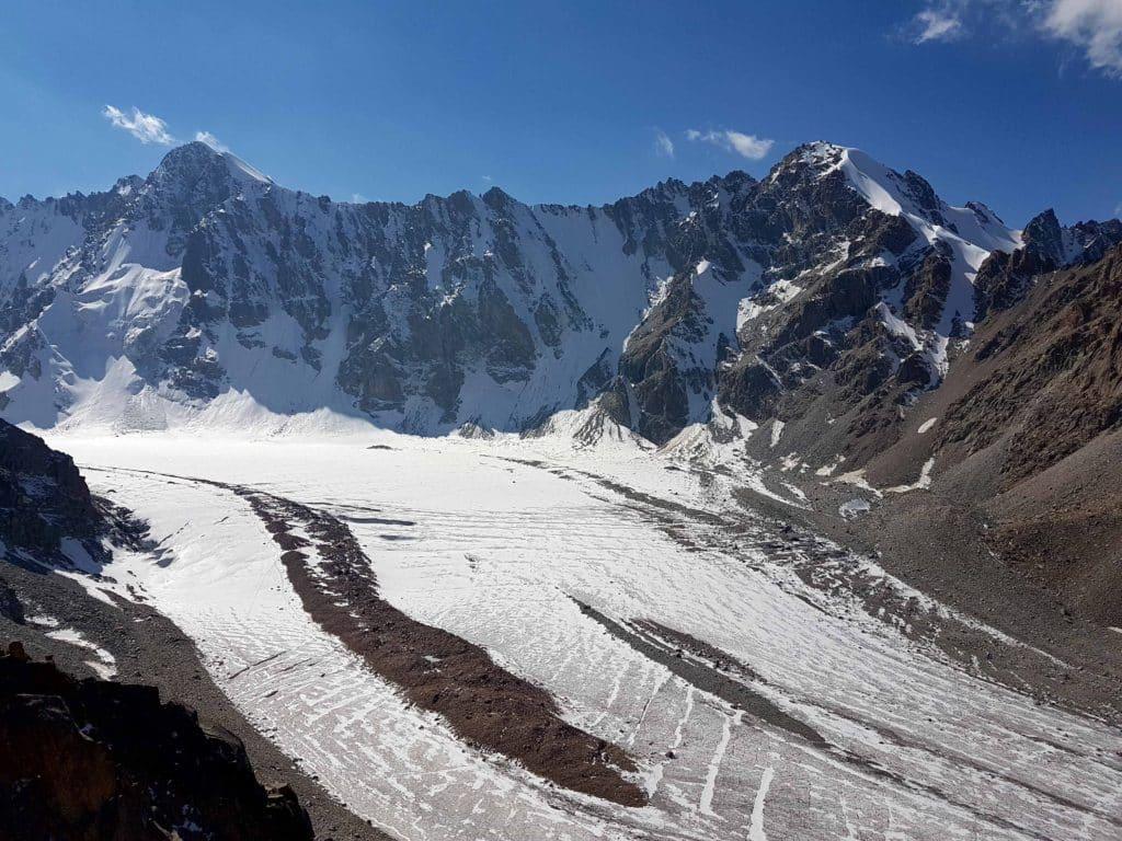 Iced peaks in Kyrgyzstan