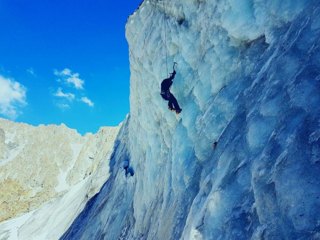 Ice climbing in Ala Archa