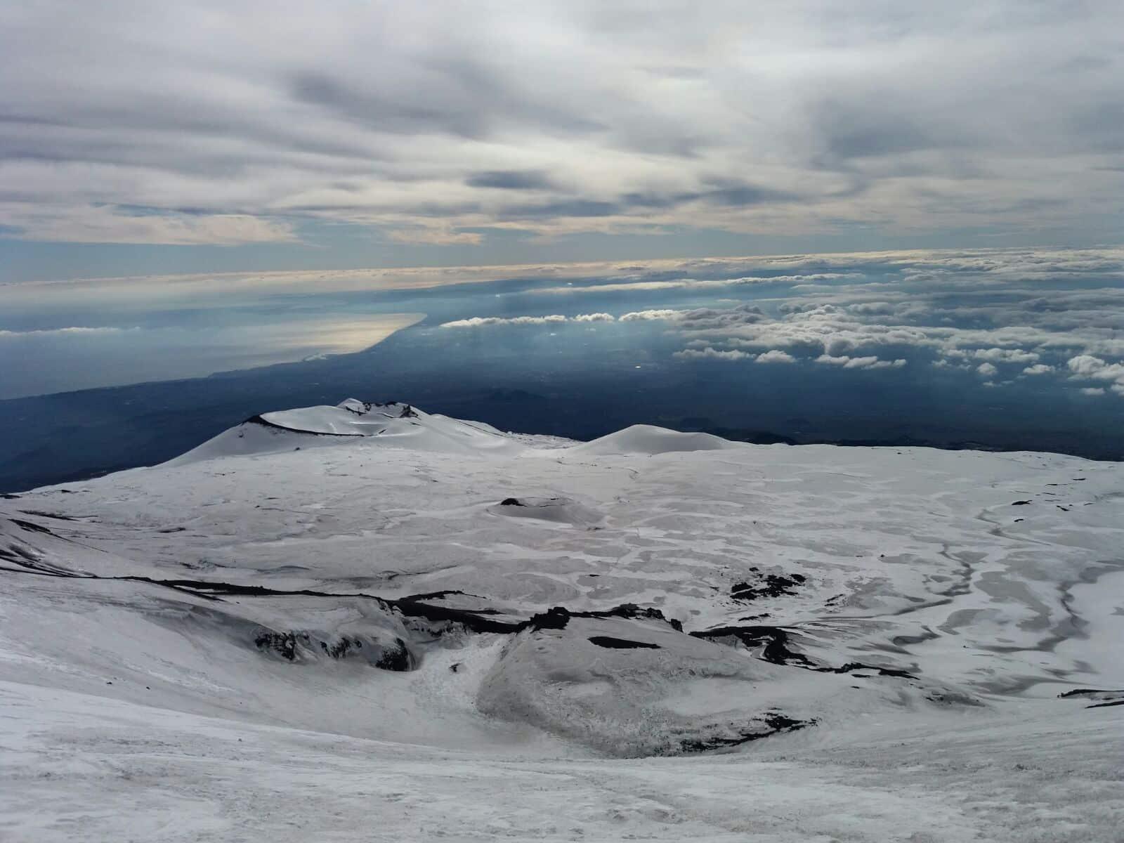 Guided ski touring on Mount Etna