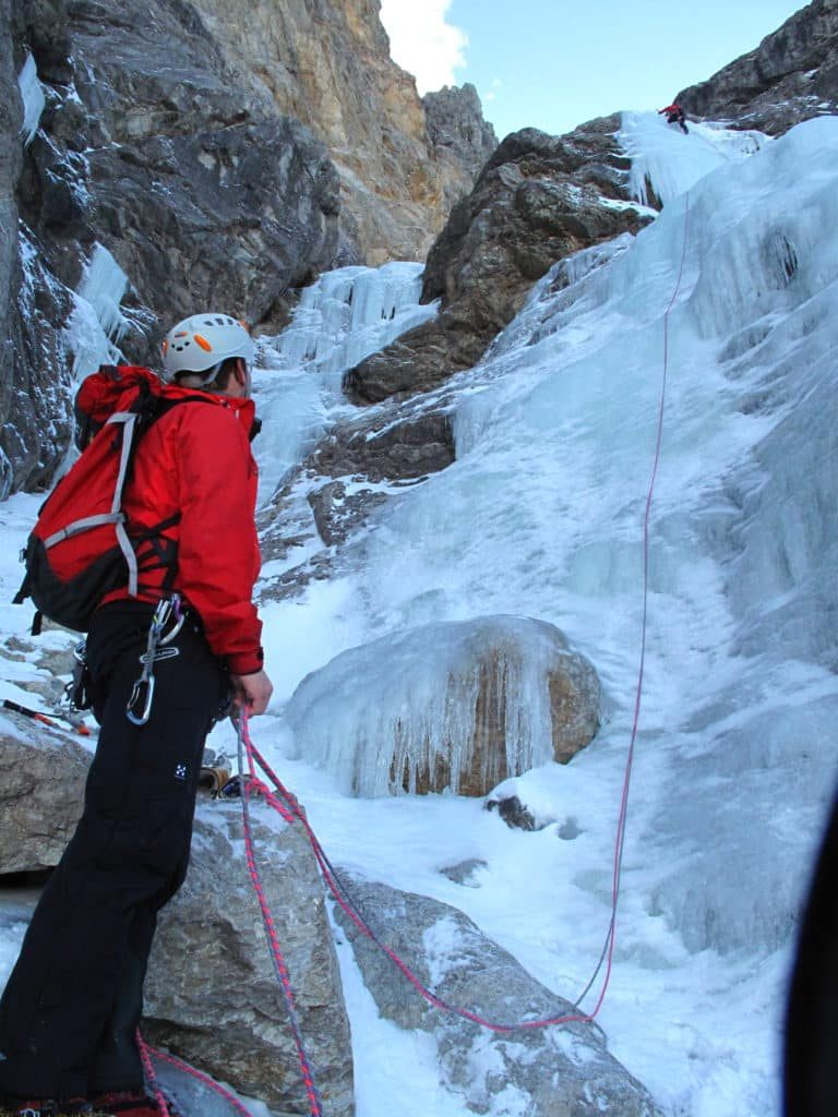 Ice climbing in Pitztal