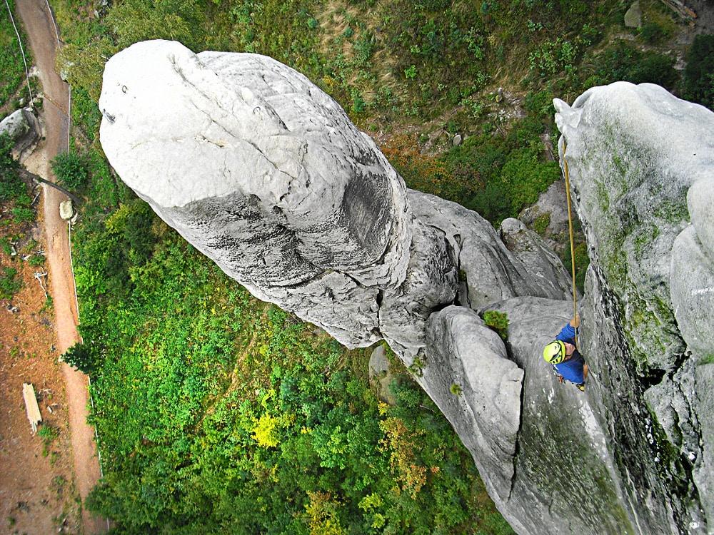 Rock climbing in the Bohemian Paradise
