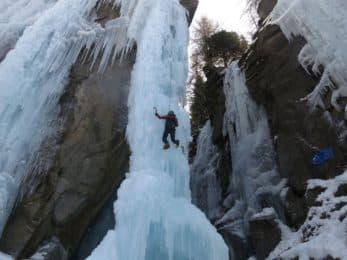 Aosta Valley ice climbing