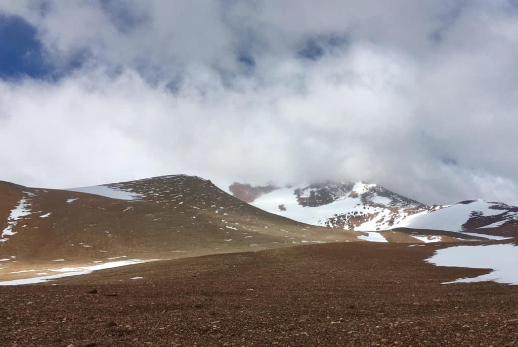 Approaching snowstorm at Pirca de Indios