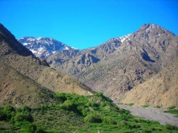 Trail running tour of Imlil in Morocco