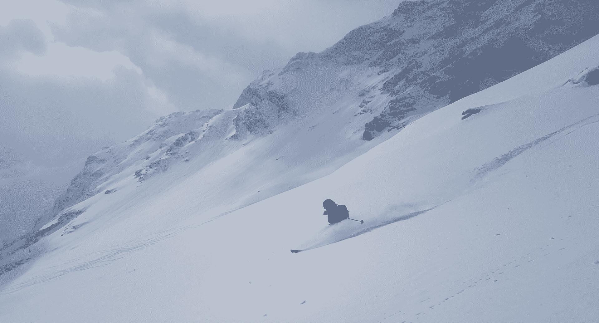 Gressoney: freeride skiing day in Monte Rosa