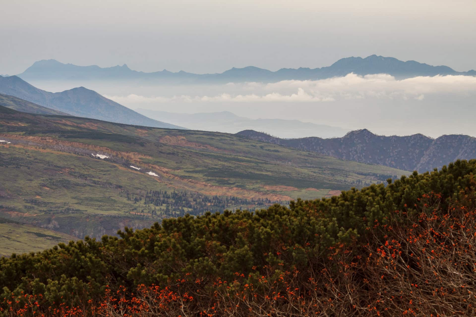 4-day hiking in Daisetsuzan from Asahidake to Tomuraushi