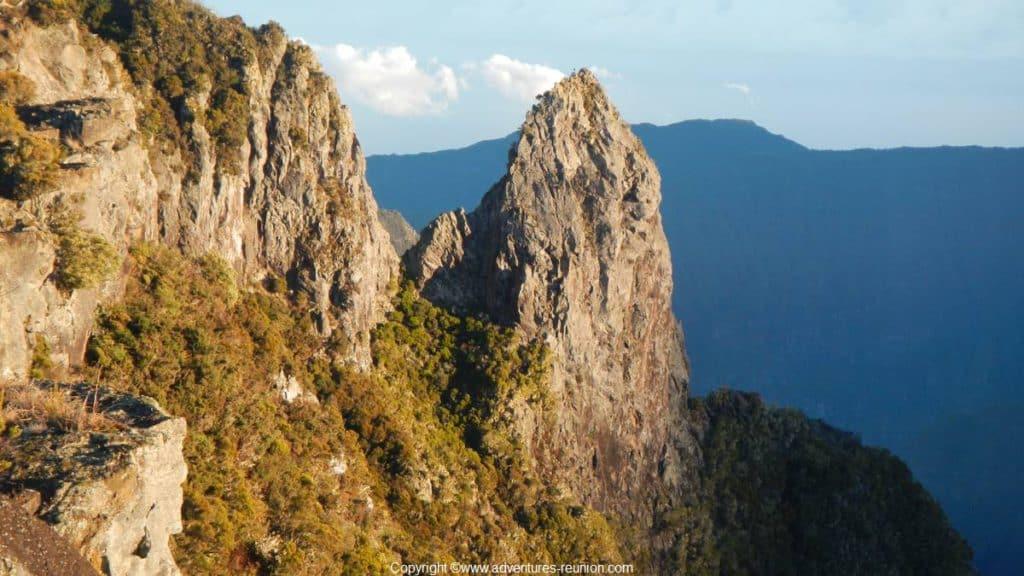 Climbing Piton Maido in La Reunion