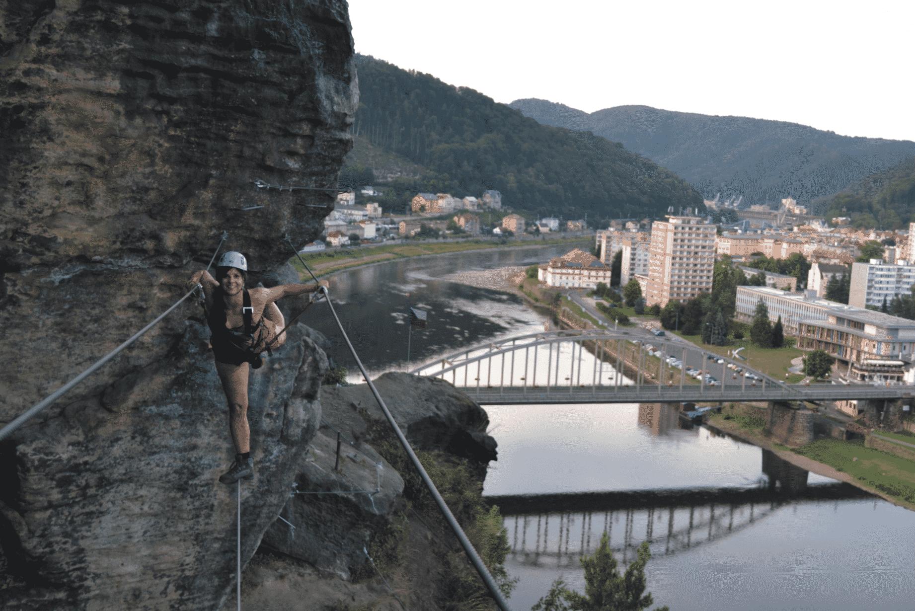 Via ferrata course in the Czech Republic