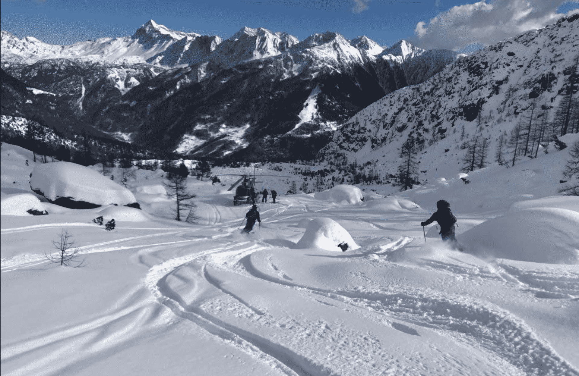 Mont Blanc big heliski day with 5 flights