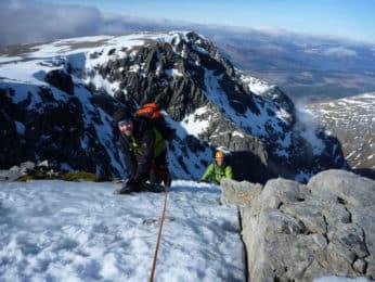 Winter climbing course in Scotland