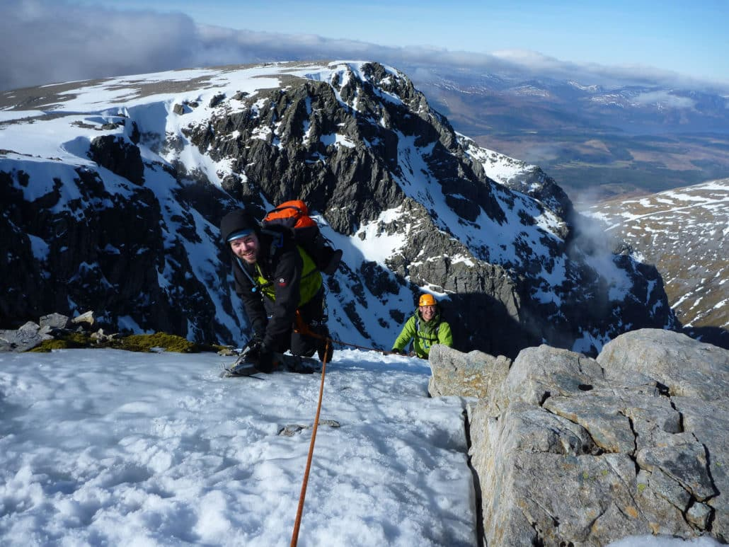 Introductory winter climbing course in Scotland