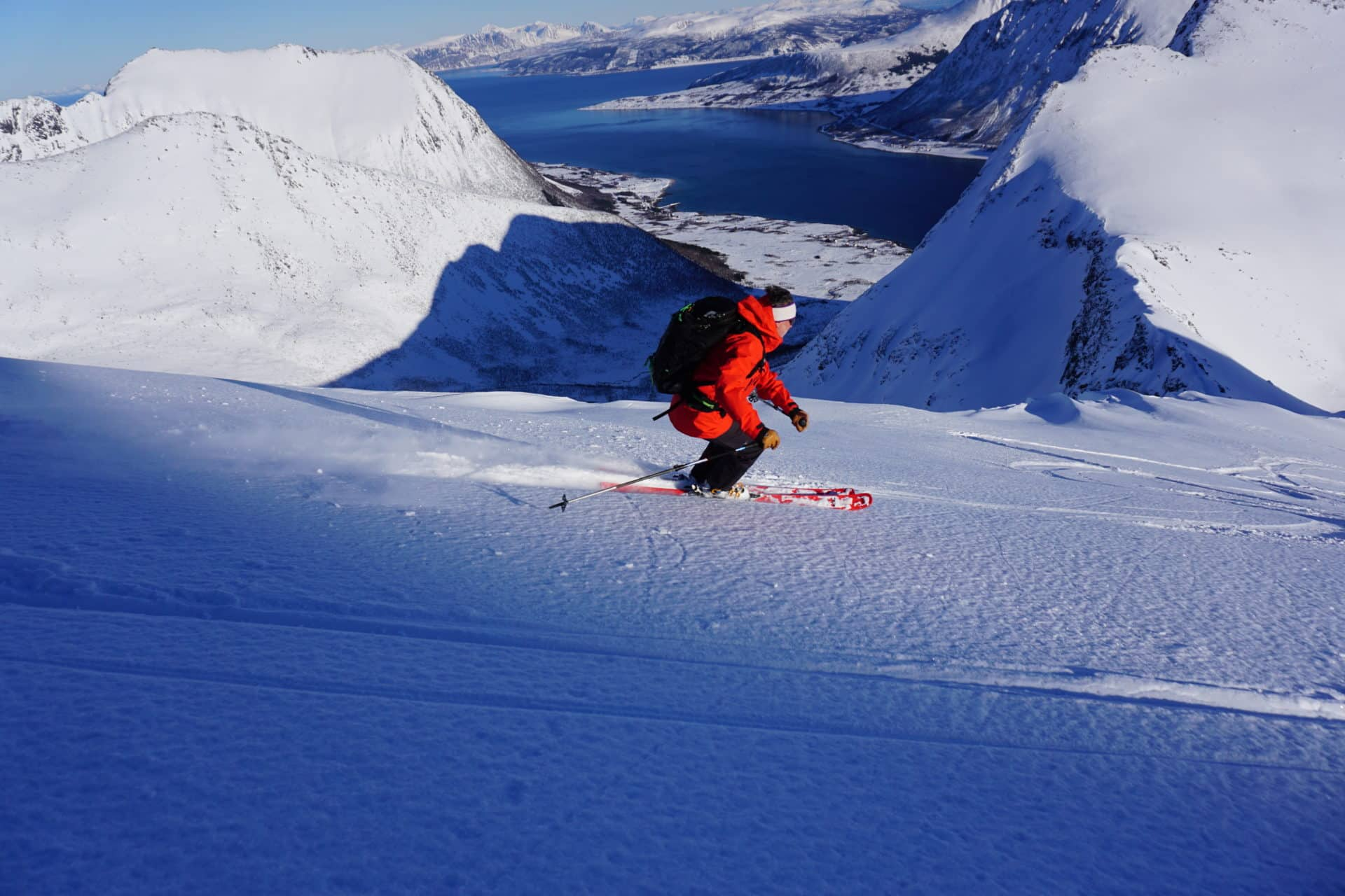 Lofoten ski touring between the sea and mountain