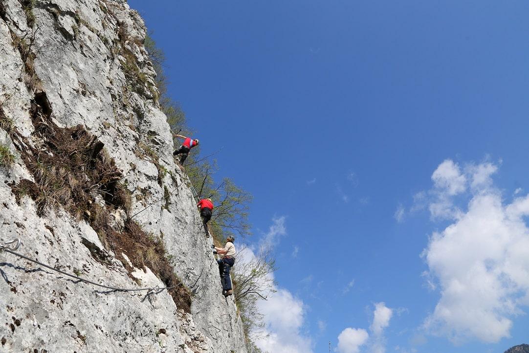 Via ferrata in the Karawanken mountains