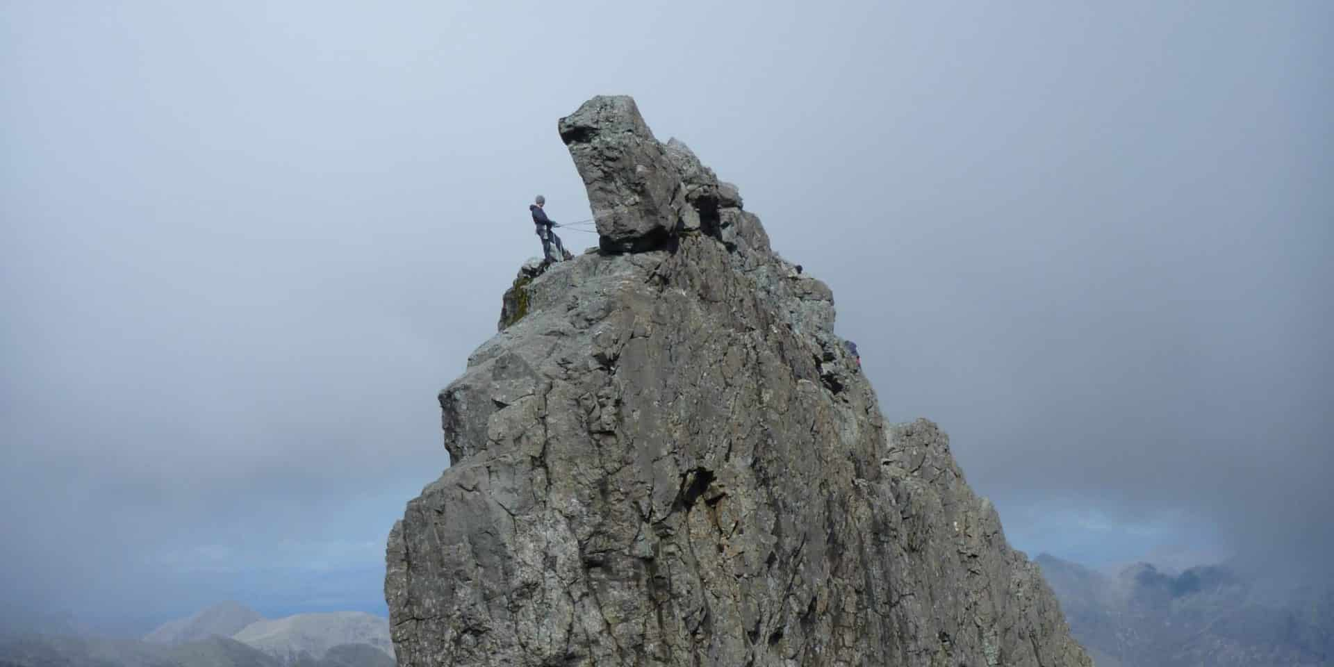 Ascent of the In Pinn on Skye Island