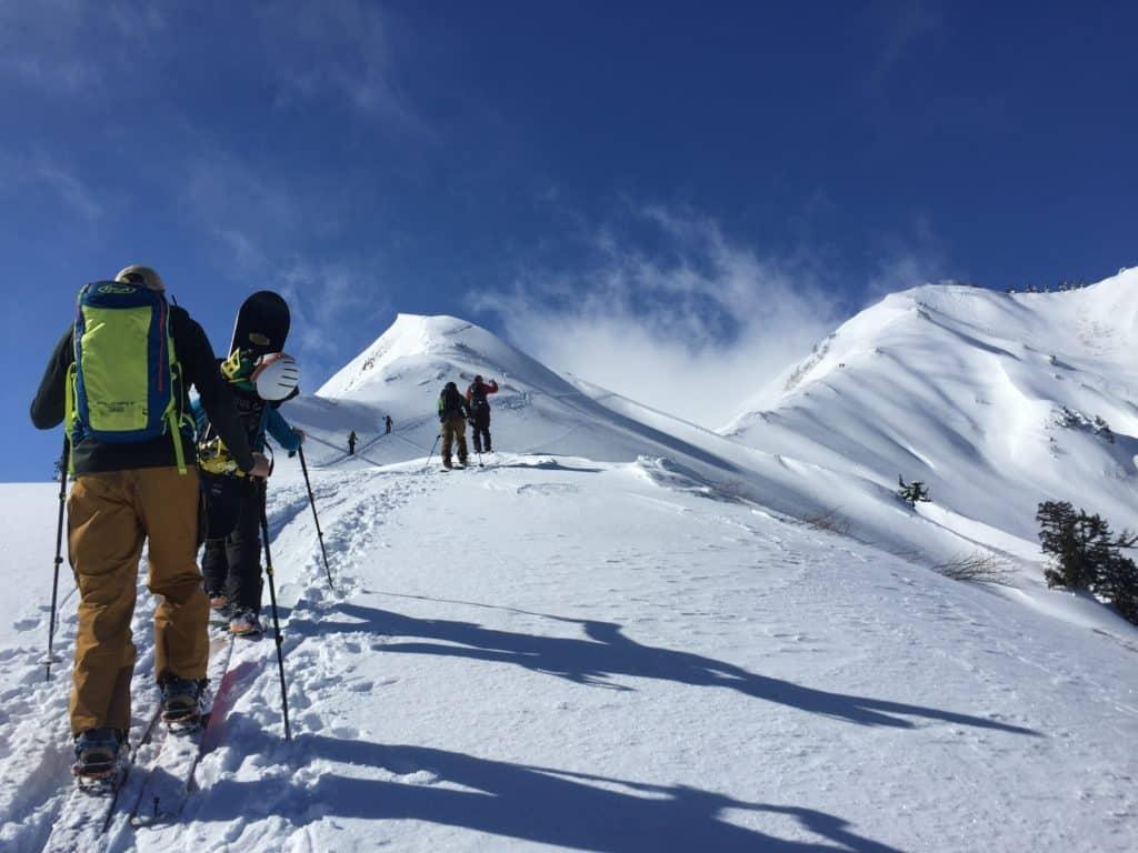 Shirakawago backcountry skiing