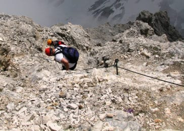 hiking and via ferrata in the Dolomites