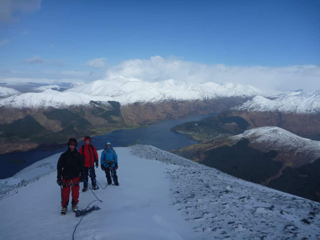 Introductory winter mountaineering course in Scotland