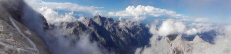 climbing Triglav from Blato meadow