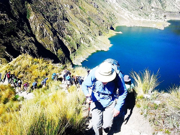Quilotoa Lagoon and Shalala Lodge 2-day hike