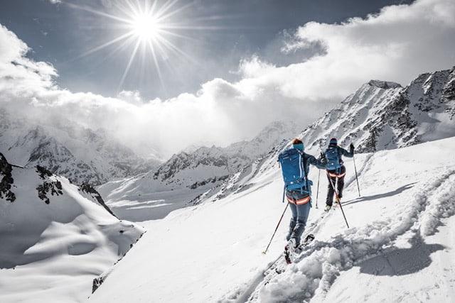 Backcountry ski with Airbag