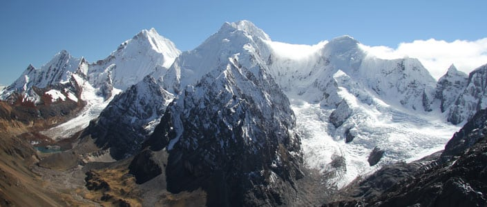 Classic Huayhuash trek with a guide