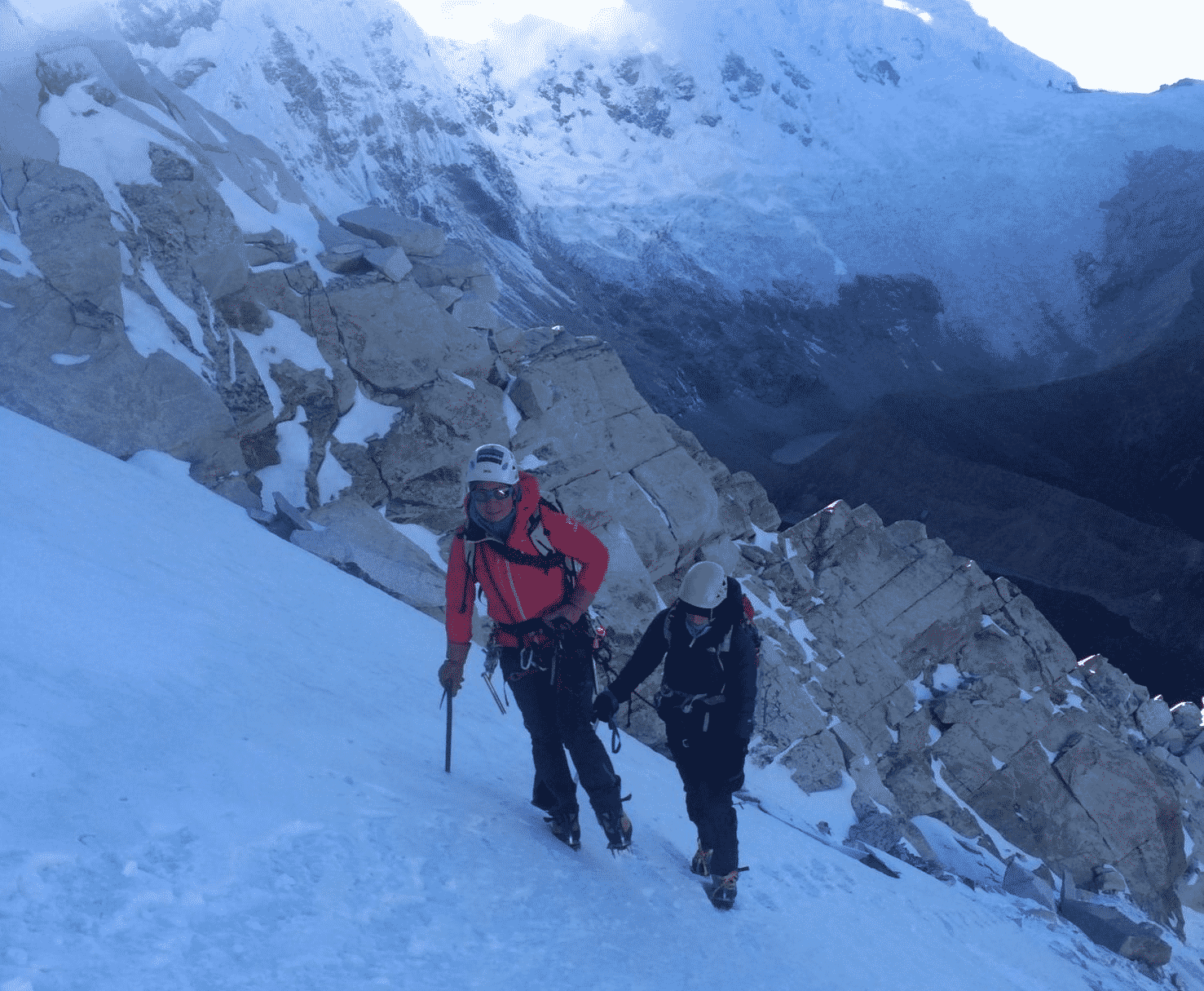 Glacier and crevasse rescue course in Cayambe