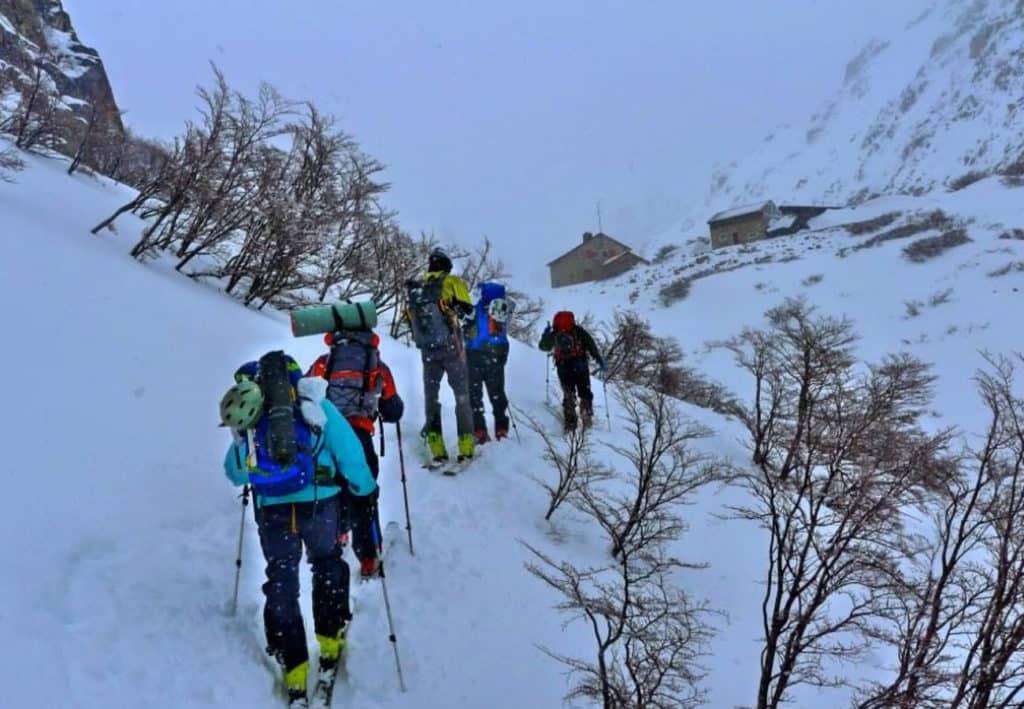 Guided ski tour in Frey hut, Bariloche
