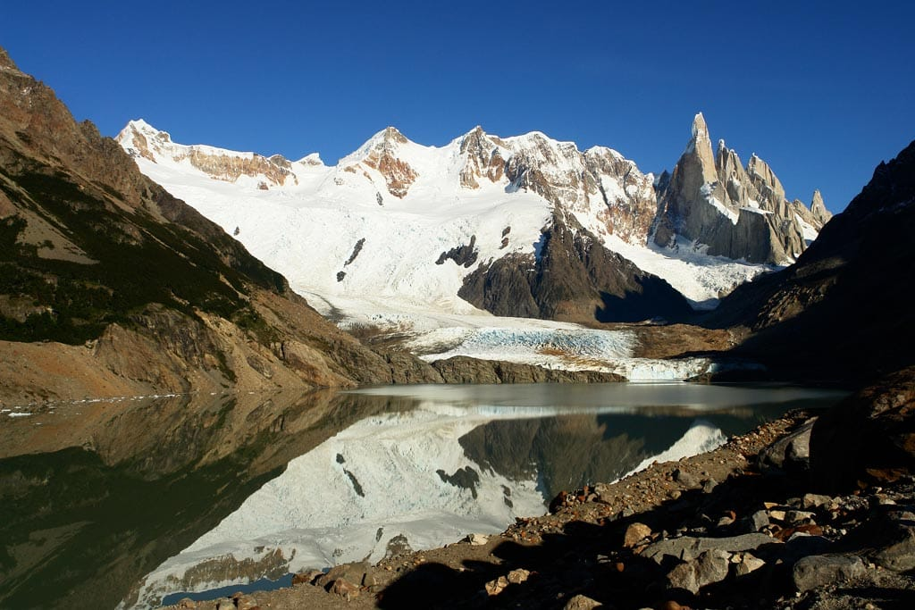 Laguna Torre one-day guided snowshoeing tour