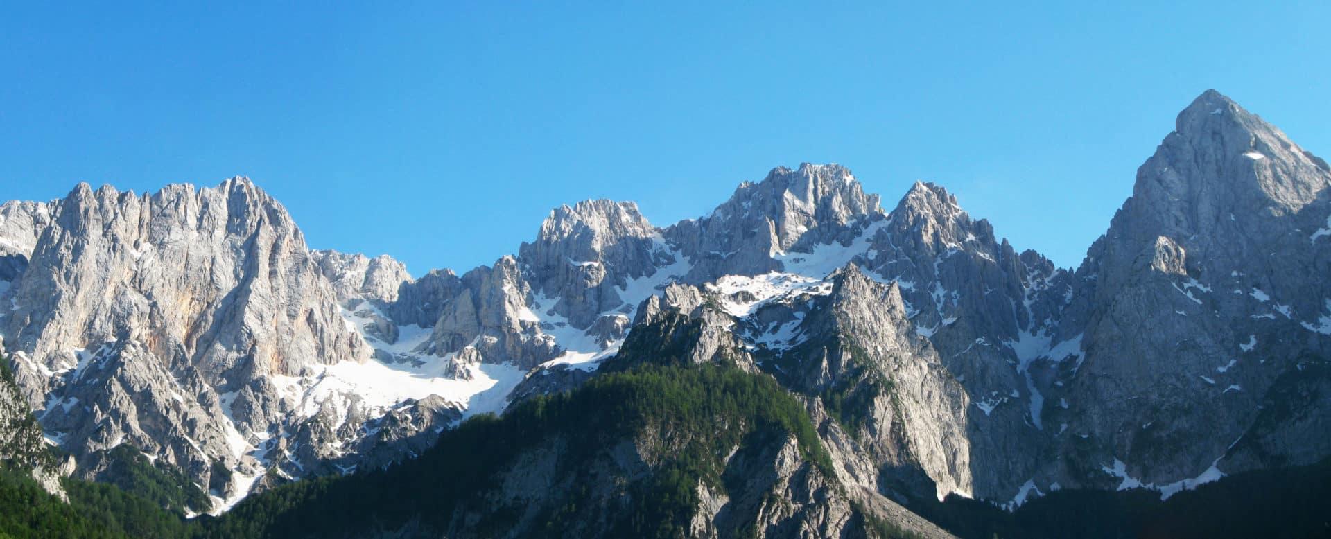 Climbing in Martuljek group, Julian Alps
