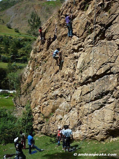Rock climbing in Cordillera Blanca for all levels