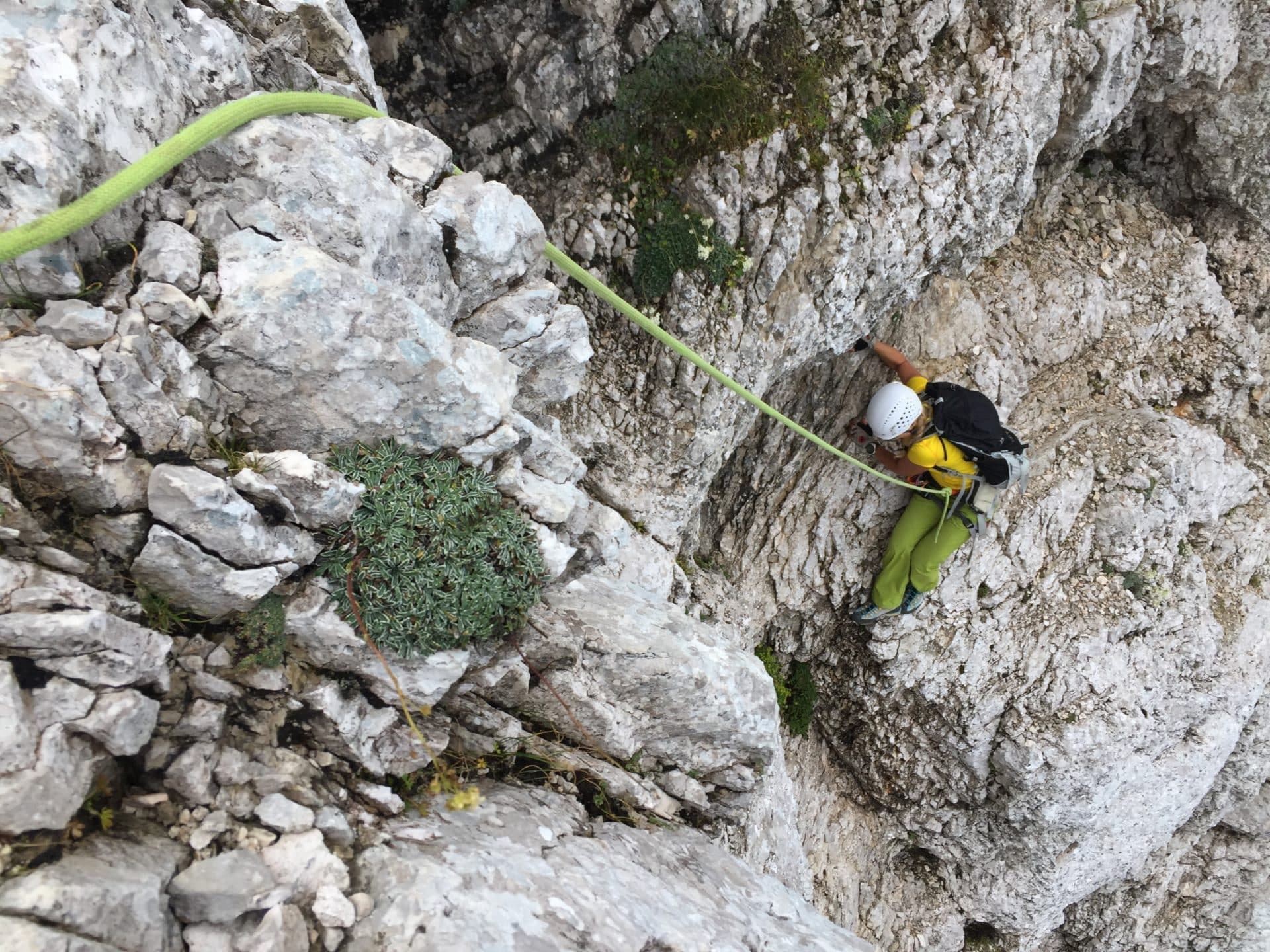Climbing the Cop Pillar in Triglav north face