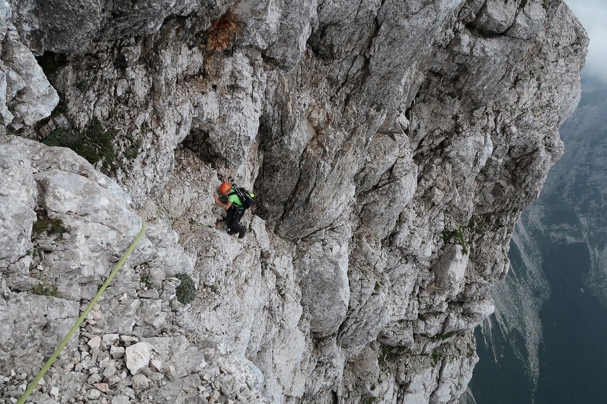 Bavarian climbing route on Triglav north face