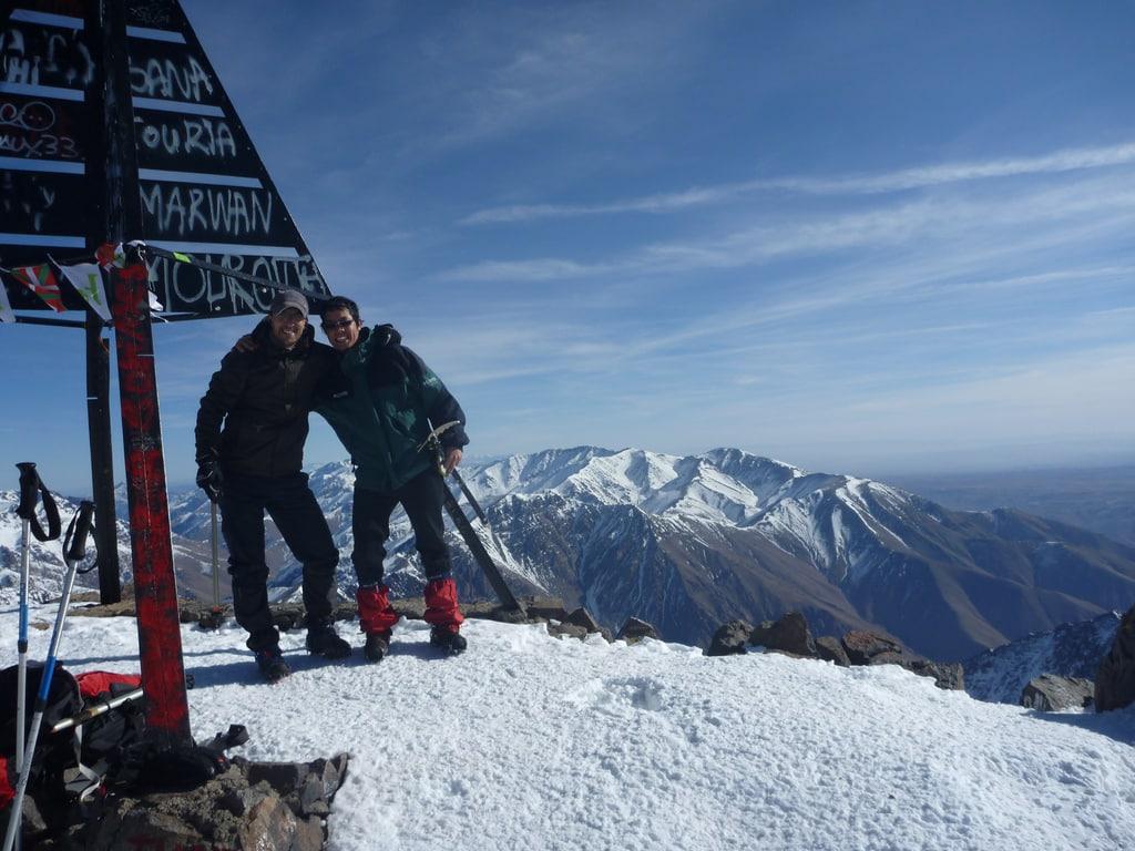 6-day skiing traverse in Mount Toubkal (4167 m)