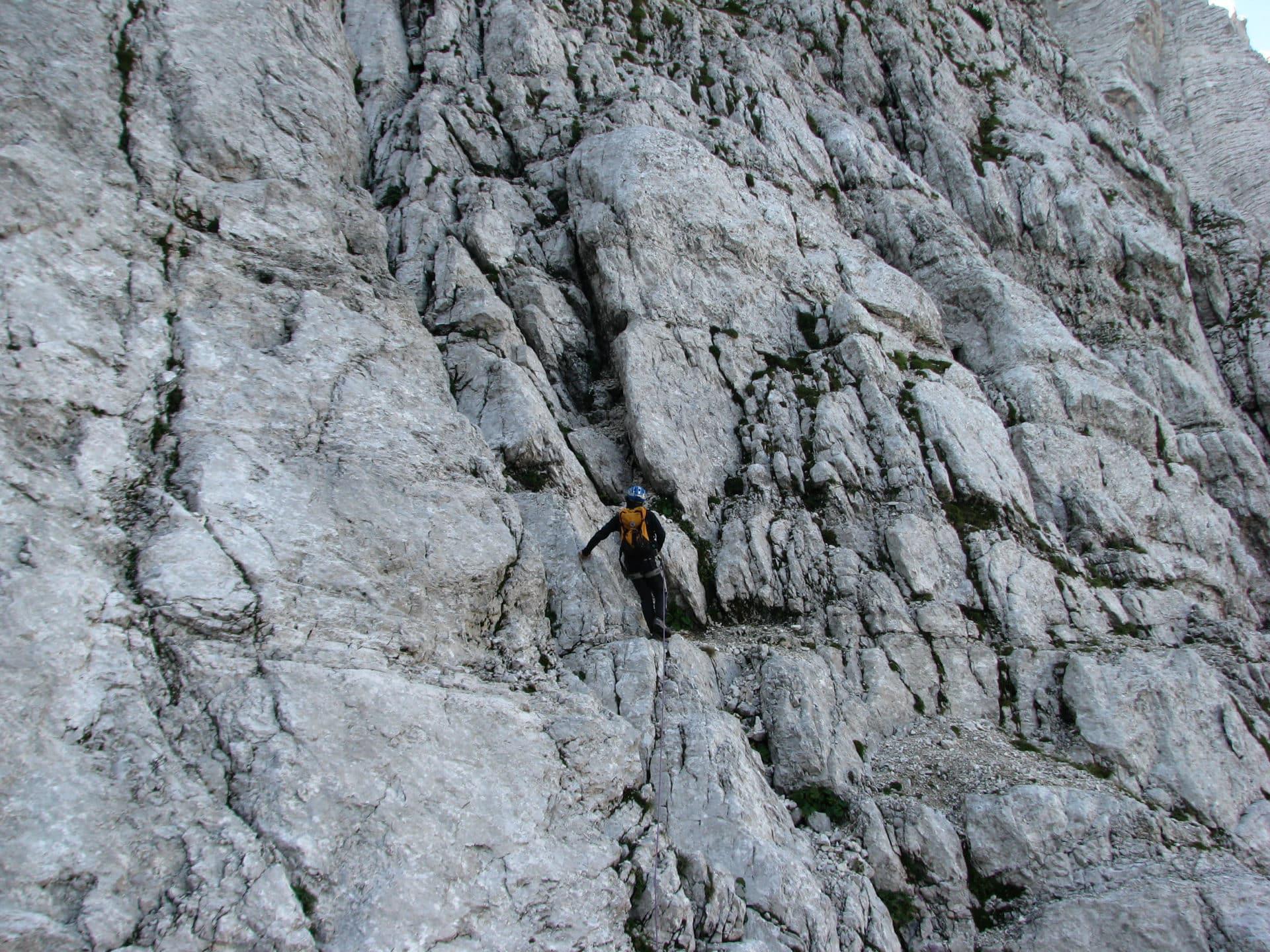 Triglav north face: climbing the Slovenian route