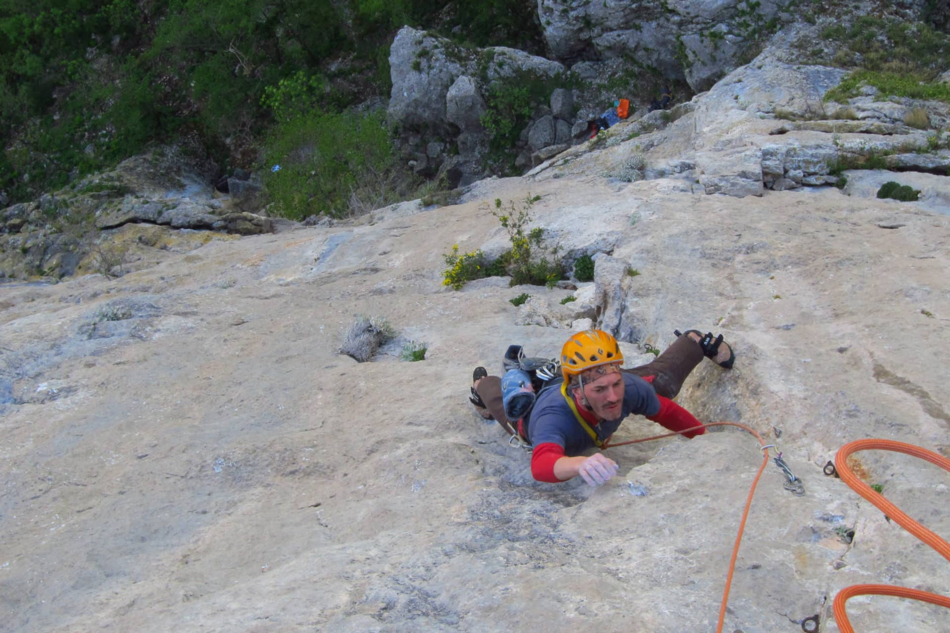 Rock climbing in Paklenica with a guide