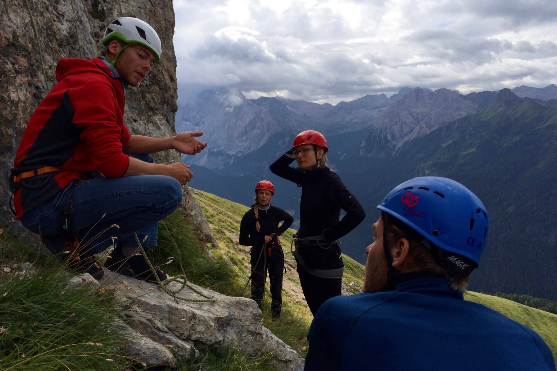 Val Di Fassa rock climbing day tours in the Dolomites