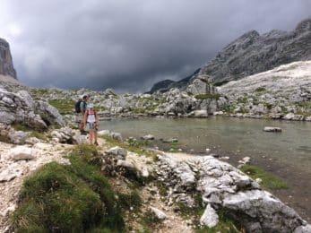 climbing Mt Triglav