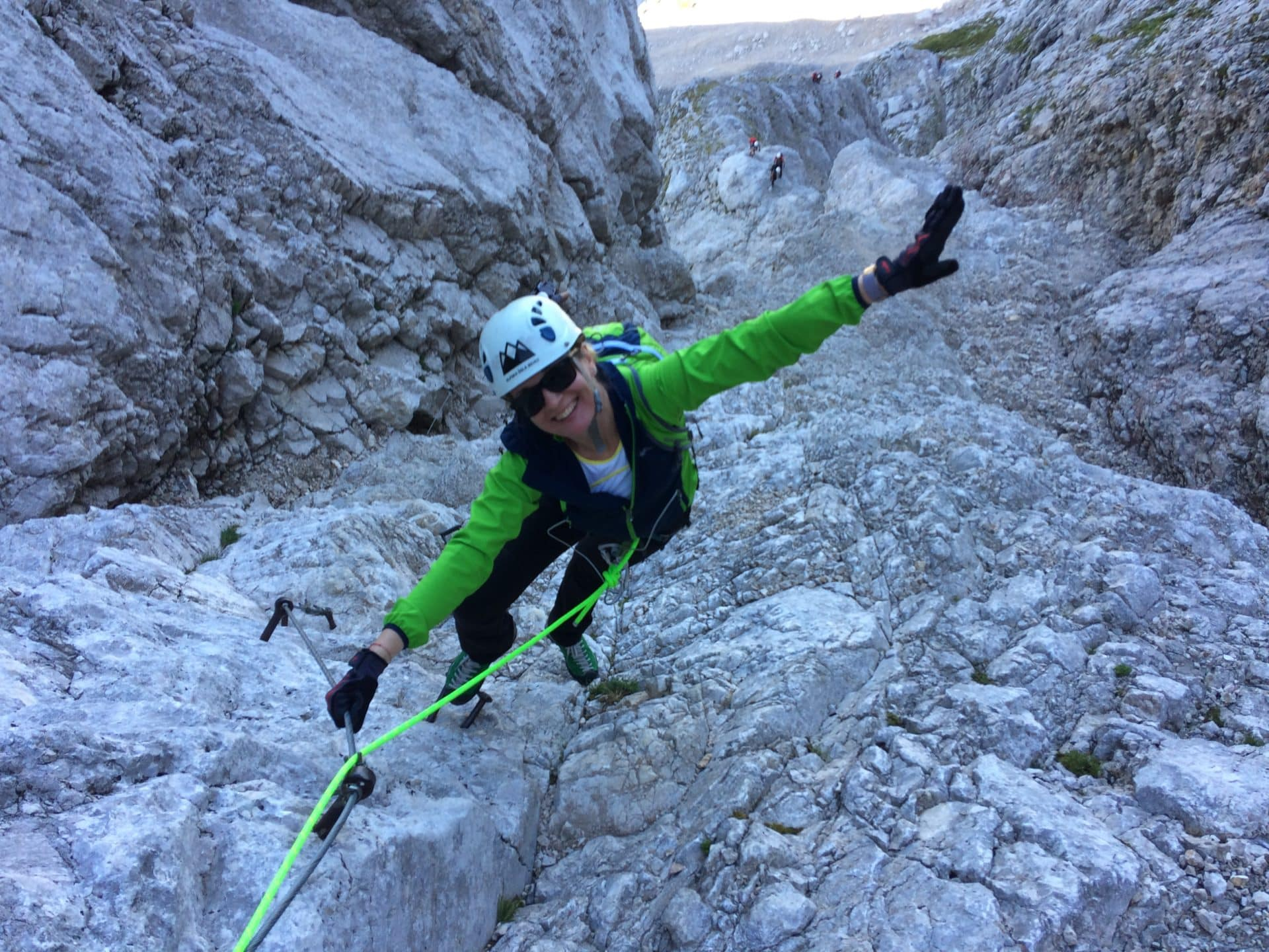 Mt Mangart via ferrata, Slovenian side